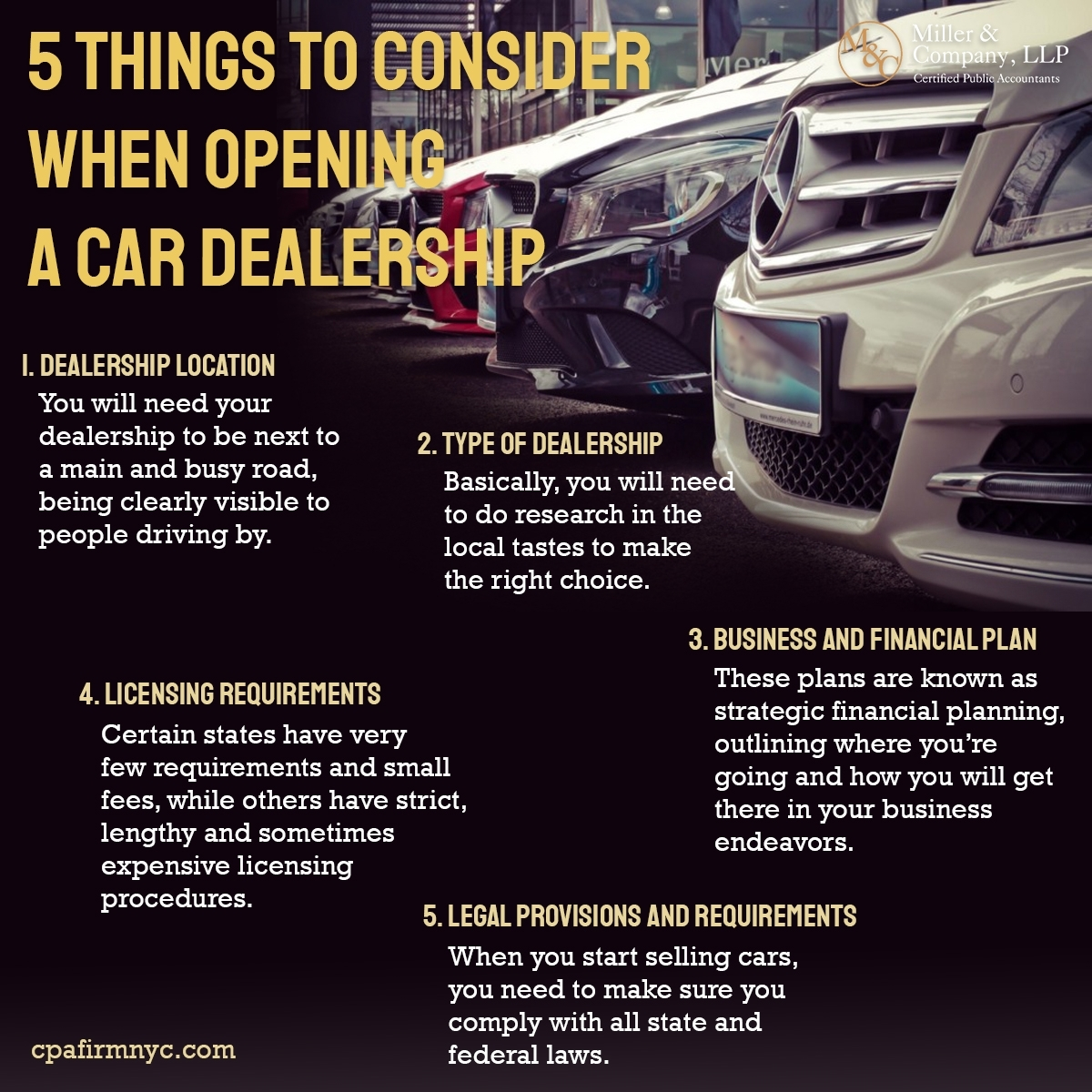 5 Things to Consider When Opening a Car Dealership